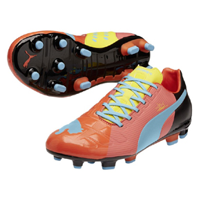 Puma evoPower 3 FG Soccer Shoes (Red)