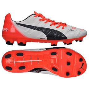 Puma  evoPower 1.2 FG Soccer Shoes (White/Lava)