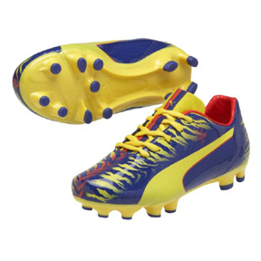 Puma Youth  Falcao 9 FG Soccer Shoes (Blue/Yellow)