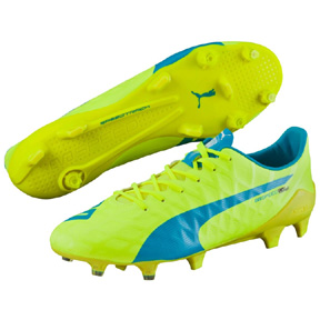 Puma evoSpeed  SL - S FG Soccer Shoes (Safety Yellow/Blue)