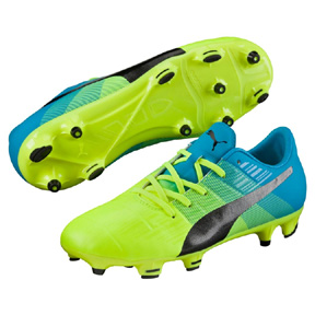 Puma Youth  evoPower 1.3 FG Soccer Shoes (Safety Yellow)