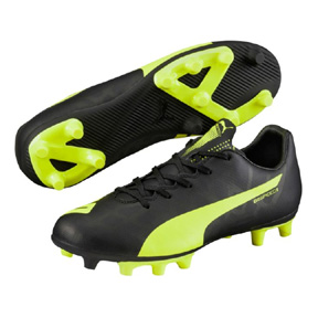 Puma Youth  evoSpeed 5.4 FG Soccer Shoes (Black/Yellow)
