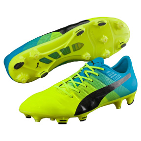 Puma evoPower  1.3 FG Soccer Shoes (Safety Yellow)