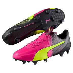 Puma  evoSPEED  1.5 Tricks FG Soccer Shoes (Pink Glo/Yellow)
