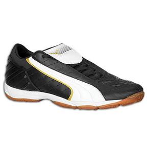 Puma Youth v-Kon II Indoor Soccer Shoes (Black/White)