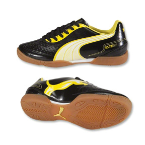 Puma Youth v5.11 IT Indoor Soccer Shoes (Black/Yellow)