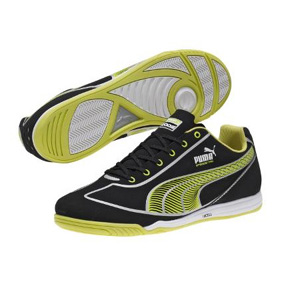 Puma Speed Star Indoor Soccer Shoes (Black/Fluo Green)