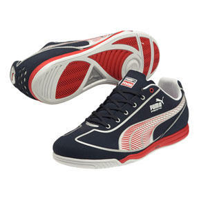 Puma Speed Star Indoor Soccer Shoes (New Navy/Red)