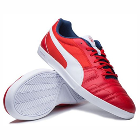 Puma Arsenal Paulista Novo Indoor Soccer Shoes (Red/White)