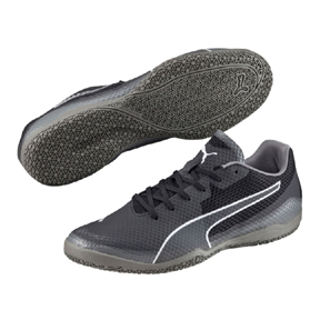 Puma Invicto Fresh Indoor Soccer Shoes (Black/Gray)