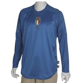 Puma Italy Long Sleeve Soccer Jersey (Home 2004/05)