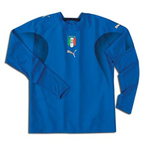 Puma Italy Long Sleeve Soccer Jersey (Home 2007/08)