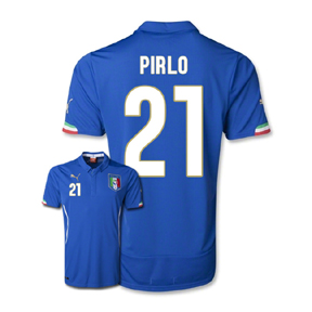 Puma Youth Italy Pirlo #21 World Cup 2014 Soccer Jersey (Home)
