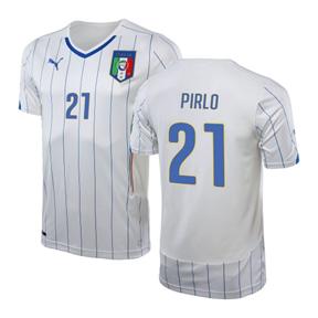 Puma Italy  Pirlo #21 World Cup 2014 Soccer Jersey (Away)
