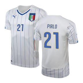 Puma Youth Italy Pirlo #21 World Cup 2014 Soccer Jersey (Away)