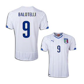 Puma Youth Italy Balotelli #9 World Cup 2014 Soccer Jersey (Away)