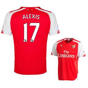 Puma  Arsenal Alexis #17 Soccer Jersey (Home 2014/15)