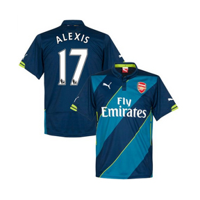 Puma Arsenal Alexis #17 Soccer Jersey (Alternate 2014/15)