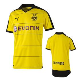 Puma Youth Borussia Dortmund Soccer Jersey (Home 2015/16)