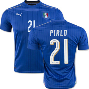 Puma  Italy  Pirlo #21 Soccer Jersey (Home 2016/17)