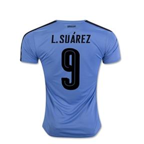 Puma  Uruguay  Suarez #9 Soccer Jersey (Home 2016/17)