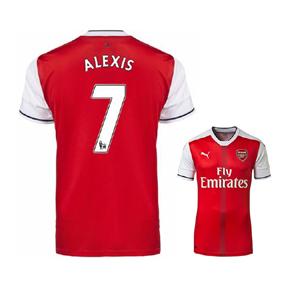Puma  Arsenal  Alexis #7 Soccer Jersey (Home 2016/17)