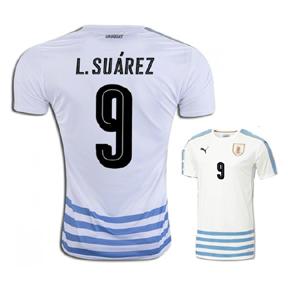 Puma  Uruguay  Suarez #9 Soccer Jersey (Away 2016/17)