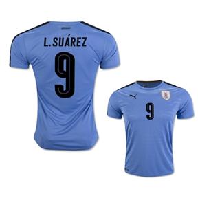 Puma Youth  Uruguay  Suarez #9 Soccer Jersey (Home 2016/17)