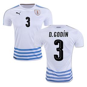 Puma  Uruguay  Godin #3 Soccer Jersey (Away 2016/17)