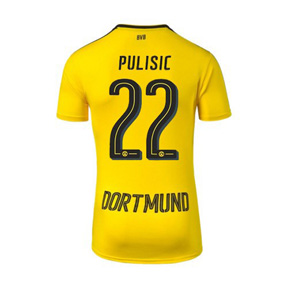 Puma  Borussia Dortmund  Pulisic #22 Soccer Jersey (Home 16/17)