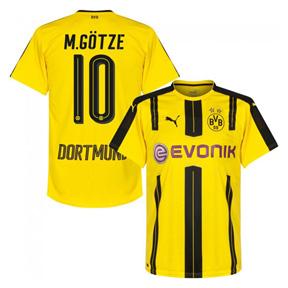 Puma  Borussia Dortmund  Gotze #10 Soccer Jersey (Home 16/17)