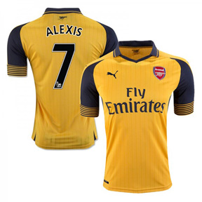 Puma  Arsenal  Alexis #7 Soccer Jersey (Away 2016/17)