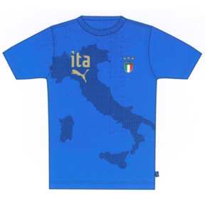 Puma Italy Graphic Soccer Tee (Power Blue)