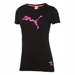 Puma Womens Project Pink Soccer Tee (Black/Pink)