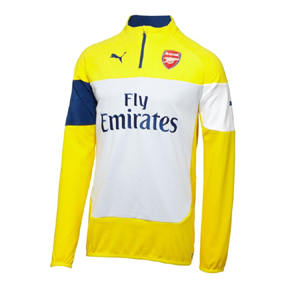 Puma  Arsenal Fleece Soccer Training Jacket (Empire Yellow)