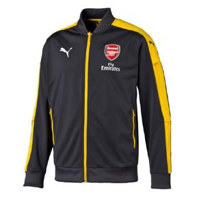 Puma  Arsenal  Stadium Soccer Jacket (Gray/Yellow - 2016/17)