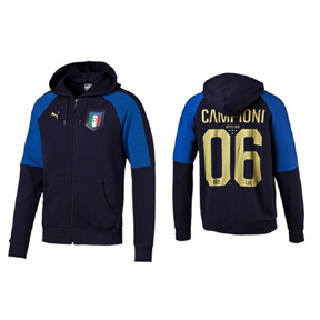 Puma Italy Tribute 2006 Soccer Hoody (Peacoat/Power Blue)