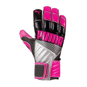 Puma Youth Fluo Protect Soccer Goalkeeper Glove (Pink/Black)