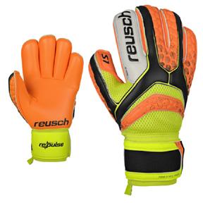 Reusch Re:pulse Prime S1 Finger Support Goalie Glove (Orange)