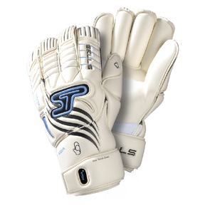 Sells Total Contact Aqua Soccer Goalie Glove (White/Black/Aqua)