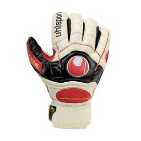 Uhlsport Ergonomic Soft SF/C Soccer Goalkeeper Glove (Red)