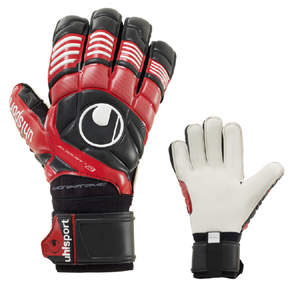 Uhlsport Eliminator Supersoft Bionik Soccer Goalkeeper Glove (Red)