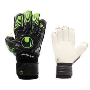 Uhlsport  Eliminator Absolutgrip Bionik+ Soccer Goalie Glove (Black)