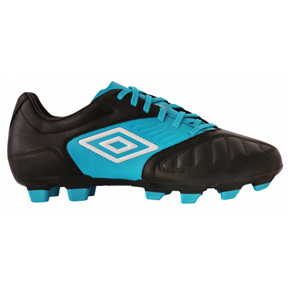 Umbro Youth Geometra Cup FG Soccer Shoes (Black/Blue)