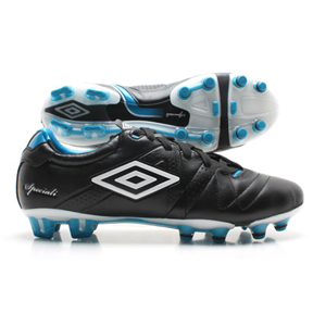 Umbro  Speciali 3 Pro HG Soccer Shoes (Black/White/Vivid Blue)