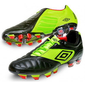 Umbro  Geometra Pro A FG Soccer Shoes (Black/Green)