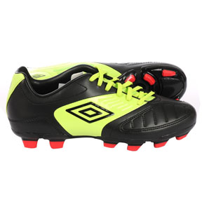 Umbro Youth Geometra Cup FG Soccer Shoes (Black/Green)