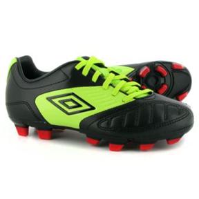 Umbro Geometra Premier A FG Soccer Shoes (Black/Green)