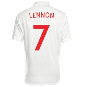 Umbro England Lennon #7 Soccer Jersey (Home 2010/11)