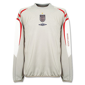 Umbro England Soccer Training Top (Grey/Red/White)